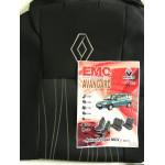 Чехлы салона Renault Logan MCV 5 мест (цельный) с 2009-13 г , /Черный - бюджет Элегант