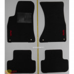Коврики текстильные AUDI A4 с 2008 черные в салон