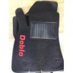 Коврики текстильные FIAT DOBLO с 2010 черные в салон