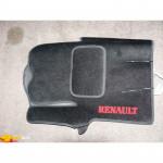 Коврики текстильные RENAULT TRAFIC с 2001-2006 черные в салон