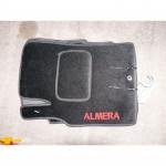 Коврики текстильные NISSAN ALMERA с 2006-2013 CLASSIC черные в салон