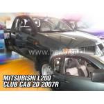 Ветровики на MITSUBISHI L-200 CLUB CAB 2D 2006r.-> два передних - HEKO