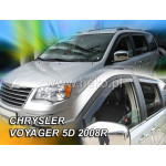 Ветровики для CHRYSLER VOYAGER GRAND 5D 2008R->(+OT) - вставные - Heko