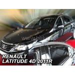 Ветровики для RENAULT LATITUDE 4D 2011R.->(+OT) - вставные - Heko