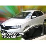 Ветровики для SKODA RAPID 5D 2012R.->, Rapid Spaceback - два передних - вставные - Heko