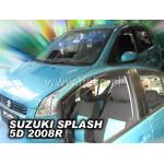 Ветровики для SUZUKI SPLASH 5D 2008R->(+OT) - вставные - Heko