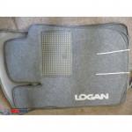 Коврики текстильные RENAULT LOGAN 2013- [X52] серые в салон