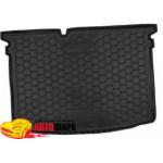 Ковер в багажник SkodaFabia lll с 2015 (хетчбэк) - резиновый Avto-Gumm