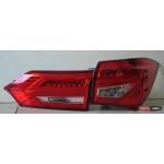 Toyota Corolla E170/ Altis оптика задняя LED красная BENZ стиль 2014+ - JunYan