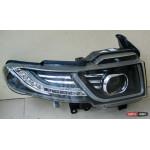 Toyota FJ Cruiser оптика передняя черная стиль Evoque restyling - JunYan