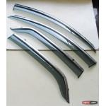 Ford Ecosport 2013+ ветровики дефлекторы окон ASP с молдингом нержавеющей стали
