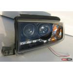 Skoda Fabia 1 оптика передня черная 2000+ - JunYan