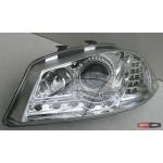 Seat Ibiza оптика передняя хром LED 2003+ - JunYan