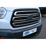 Ford Transit (2014-) Накладки на решетку радиатора 3шт - OMSALINE