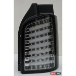 Volkswagen T5 оптика задняя хром LED tube 2003+ - JunYan