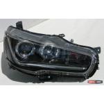 Mitsubishi Lancer X оптика передняя ксенон LED 2009+ - JunYan