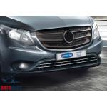 Mercedes Vito W447 (2014-) Накладки на решетку бампера (грузов) 2шт - OMSALINE