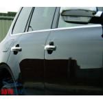 VW Touareg (2003-2007) Дверные ручки (нерж.) 4-дверн. (с отверст.под сенсор) - Omsa Line