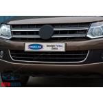 VW Amarok (2010-) Накладка на передний бампер (улыбкой) 1шт - OMSALINE