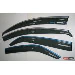 Kia Cerato / Forte 2009+ ветровики дверей с хром полоской ASP