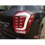 Subaru Forester SJ оптика задняя альтернативная ,фонари тюнинг диодные красные/ LED taillights red 2013+ - JunYan