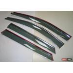 Hyundai Santa Fe 3 IX45 2013+ ветровики дефлекторы окон ASP с молдингом нержавеющей стали