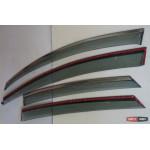 Ford Focus 3 2012+ ветровики дефлекторы окон ASP с молдингом нержавеющей стали