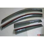 Chevrolet Captiva C140 2009+ ветровики дефлекторы окон ASP с молдингом нержавеющей стали / sunvisors