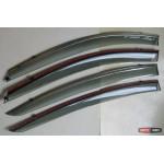 Mazda 6 2014+ Atenza ветровики дефлекторы окон ASP с молдингом нержавеющей стали