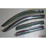 Mitsubishi Outlander 3 2013+ ветровики дефлекторы окон  ASP с молдингом нержавеющей стали