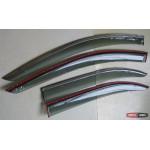 Skoda Rapid ветровики дефлекторы окон  ASP с молдингом нержавеющей стали / sunvisors 2013+