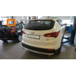 Защита задняя Hyundai Santa Fe (2013-)/ ровная - Can Otomotiv