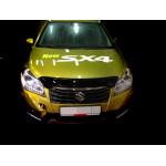 Дефлктор капота Suzuki SX4 2013-. темный - SIM