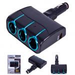 Удл.прикуривател 3 выхода 1 USB CLS 1308 BU (CLS 1308 BU)
