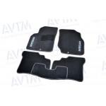 Килими салону ворс Nissan Almera Classic B10 (2006-) / Чорні 5шт - AVTM