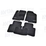Ковры салона ворс Hyundai Accent (2011-) (Solaris) /Чёрные Premium - AVTM