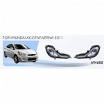 Фары доп.модель Hyundai Accent Accent 2011-2014 эл.проводка - AVTM