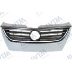 Решітка радіатора Volkswagen Passat CC 2008-2012 без отв.п / тронік, пластик темно-сірий - AVTM
