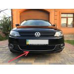 VW Jetta 2011-2014 Улыбка на передний бампер U (нерж) - Carmos