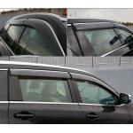 Дефлекторы окон для Тойота Highlander 2014 Хром молдинг - AVTM