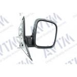 Зеркало боковое VW TRANSPORTER T5 04.03- в сборе правое ручная регул., выпуклое - AVTM