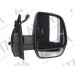 Зеркало боковое FIAT DOBLO 02.10-09.14 в сборе правое,электр.,выпукл.,обогрев.,+ поворот, 6 Pins - AVTM