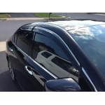 Дефлекторы окон Honda Accord 2013- Хром молдинг - AVTM
