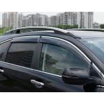 Дефлекторы окон Honda CR-V 2007-2012 4дв Хром молдинг - AVTM