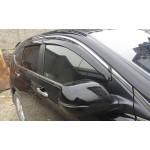 Дефлекторы окон Honda CR-V 2012- Хром молдинг - AVTM