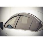 Дефлекторы окон Mazda 6 2013- Хром молдинг - AVTM