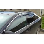 Дефлекторы окон для Тойота Camry V50 2011- 4дв Хром молдинг - AVTM