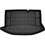 Резиновый коврик в багажникFrogum для Ford Fiesta (хетчбек)(mkVII) 2008-2017 (без двухуровневого пола)(с регулируемыми задними сидениями)(с боковыми нишами)