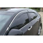 Дефлекторы окон Honda Accord 2008-2012 4дв седан Хром молдинг - AVTM
