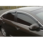 Дефлекторы окон Hyundai Accent 2010 -> седан С Хром Молдингом - HIC